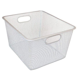 Alera® Wire Mesh Nesting Shelving Baskets, 12 x 14 x 7 3/4, Silver, 2/Set