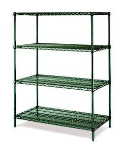 "Metro N316K3 Shelving Rack with 4 Super Erecta Wire Shelves, Metroseal 3, 18"" x 24"" x 63"""