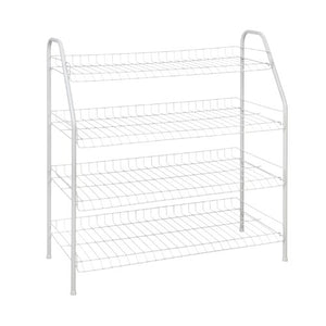 ClosetMaid 8131 4-Tier Freestanding Shoe Rack, White