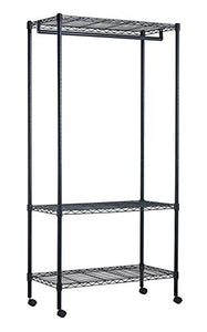 "Sandusky Lee MGR3511771 Steel Garment Rack with Canvas Cover, 35"" Width x 71"" Height x 18"" Length, Black"