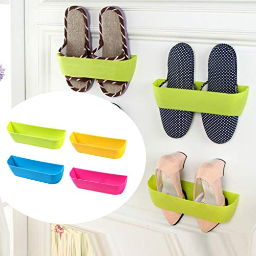 Shoe Hanger - Shoe Rack Plastic Shelf Holder Hanger Bathroom Wall Storage Shelving - On Metal In Dry Bag Duty Hooks Washable Holder Large