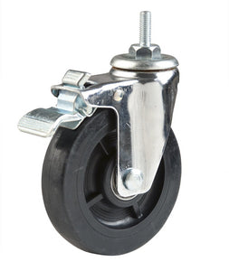 "Casters, 5"", Single Wheel, Locking, Chrome, for Wire Shelving Units"