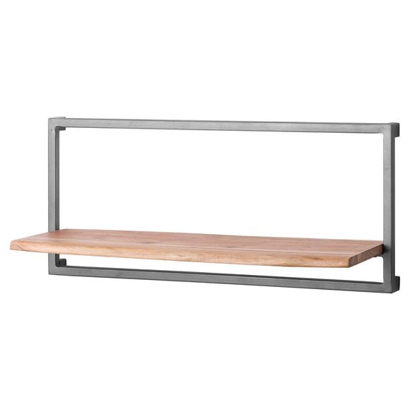35 x 80cm Live Edge Metal & Wood Shelf