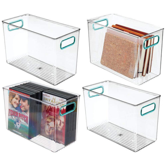 mDesign Plastic Home Storage Organizer Bin for Cube Furniture Shelving in Office, Entryway, Closet, Cabinet, Bedroom, Laundry Room, Nursery, Kids Toy Room - 12