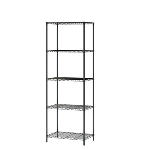"Homebi 5-Tier Wire Shelving 5 Shelves Unit Metal Storage Rack Durable Organizer Perfect for Pantry Closet Kitchen Laundry Organization in Black,21""Wx14""Dx61""H"