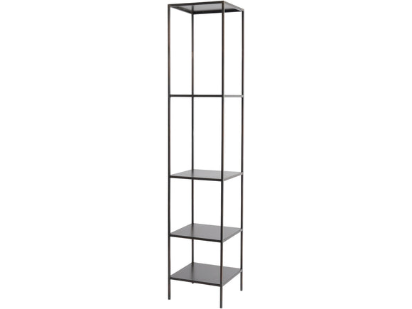 Fitzroy Bronze Narrow Modular Shelving Unit Left