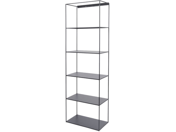 Chancery Black Metal Shelving Unit