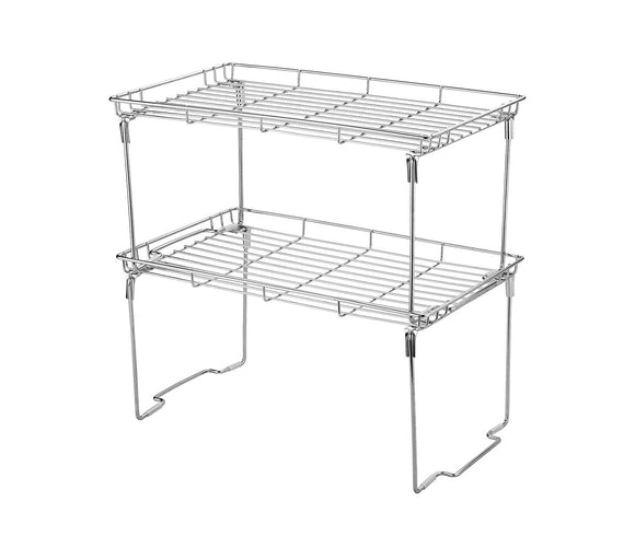 Stackable and Foldable Kitchen Shelf Organizer 15