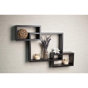 Danya B. Black Intersecting Wall Shelf