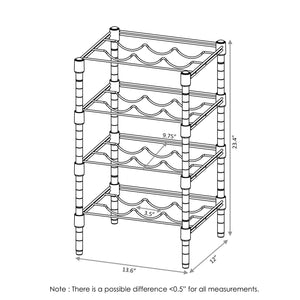 Furinno 4-Tier Wine Rack WS60334