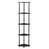 Furinno 5 Tier Corner Display Rack 18035EX/BK