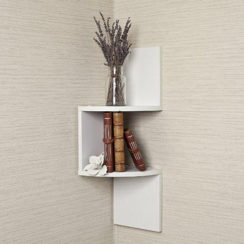 Laminated Corner Shelf w/ White Finish