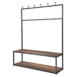 Large Industrial Styled Bench & Coat Rack