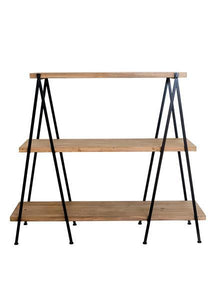 Vienna Wood & Metal Geometric Shelving Unit
