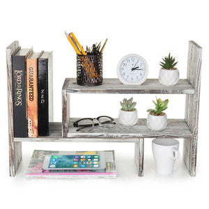 Bookcase Modular Rustic Torched Wood Organizer