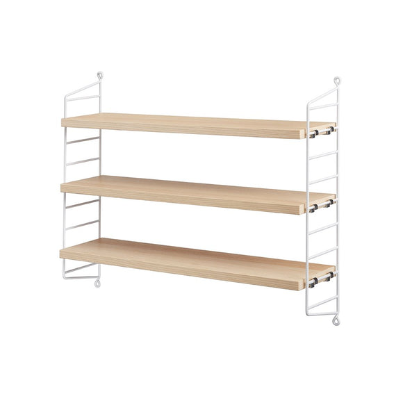String Pocket shelf - White/ash