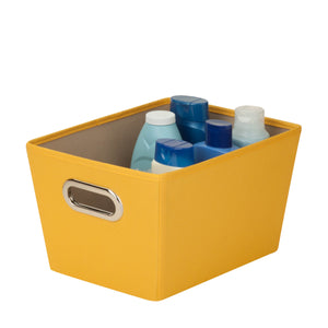 Small Storage Bin with Handles, Yellow