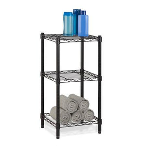 Urban Shelving 3-Tier Adjustable Storage Shelving Unit, Black