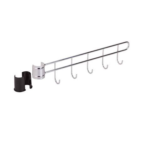 Shelving Unit Swivel Hooks, Chrome