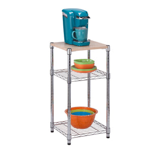 Urban Shelving 3-Tier Adjustable Storage Shelving Unit, Chrome