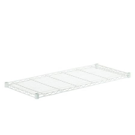 16x36-Inch Steel Shelf with 250-lb Weight Capacity, White