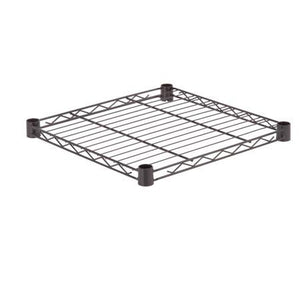 Steel Shelf-350lb black 18x18