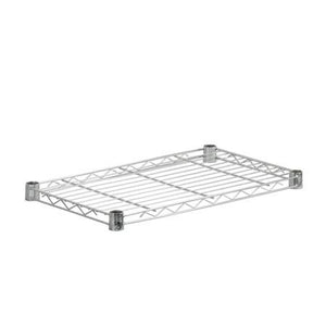 14x24-Inch Steel Shelf with 350-lb Weight Capacity, Chrome