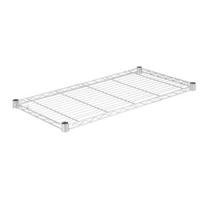 18x36-Inch Steel Shelf with 350-lb Weight Capacity, Chrome
