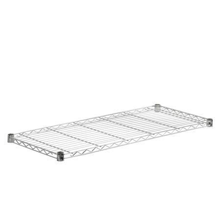 18x42-Inch Steel Shelf with 350-lb Weight Capacity, Chrome