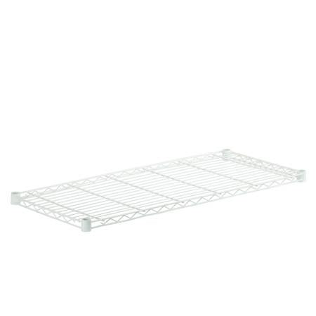 16x36 Steel Shelf with 350lb Weight Capacity, White