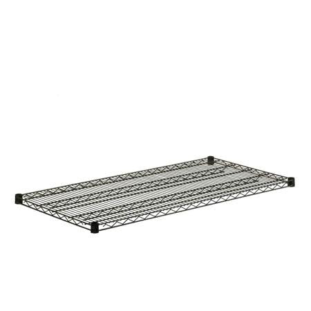 24x48-Inch Steel Shelf with 800-lb Weight Capacity, Black
