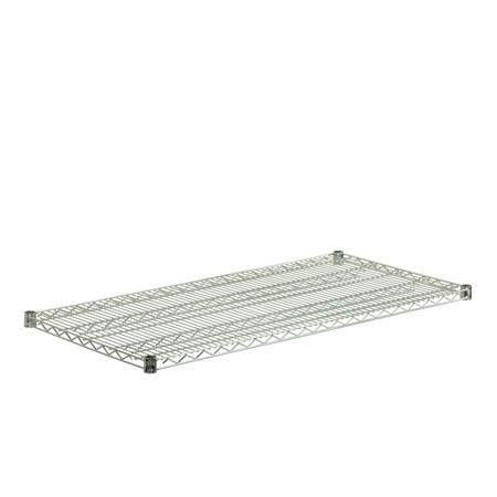 24x48-Inch Steel Shelf with 800-lb Weight Capacity, Chrome