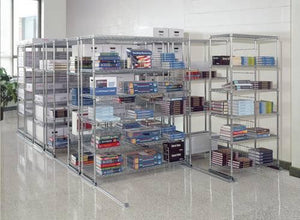 "X5 Lite Storage Solution System, Shelf Size: 18"" X 36"", Overall: 138"" X 38"" X 74"""
