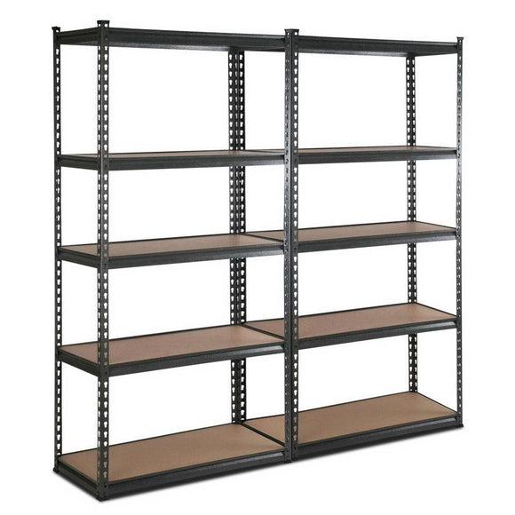 2x0.9m Warehouse Racking Rack Steel Metal Shelves Garage Storage Chacoal