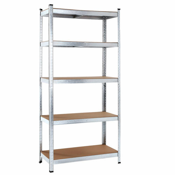 0.9M 5-Shelves Steel Warehouse Shelving Racking Garage Storage Rack Silver