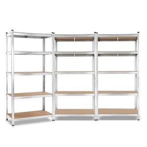 3x0.9M Warehouse Shelving Racking Storage Garage Steel Metal Shelves Rack