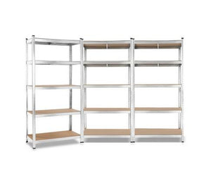 Giantz 3x0.9M Warehouse Shelving Racking Storage Garage Steel Metal Shelves Rack