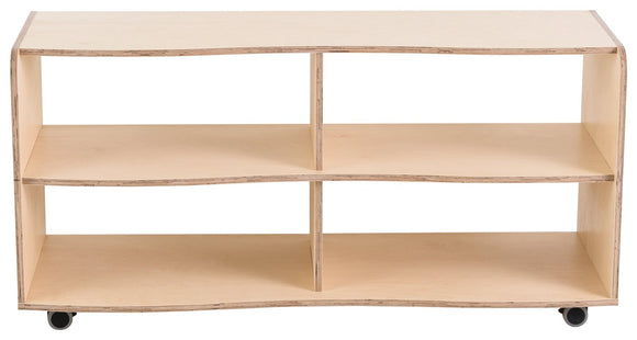 Curved Modular Four Cubby Hole Storage Unit