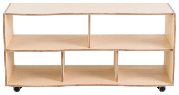 Curved Modular Five Cubby Hole Storage Unit