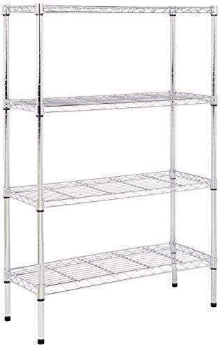 Amazonbasics 4-Shelf Shelving Unit - Chrome