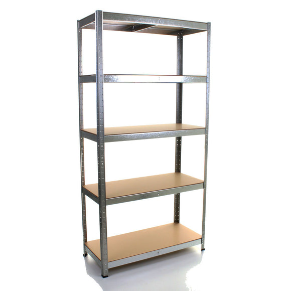 1.8M 5 Tier Metal Shelving Unit - Galvanised