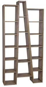 Noir Atica Bookcase, A, Washed Walnut