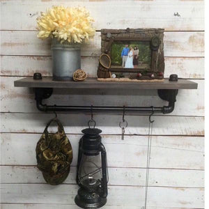Pipe shelf- pipe shelves- industrial shelf- industrial decor