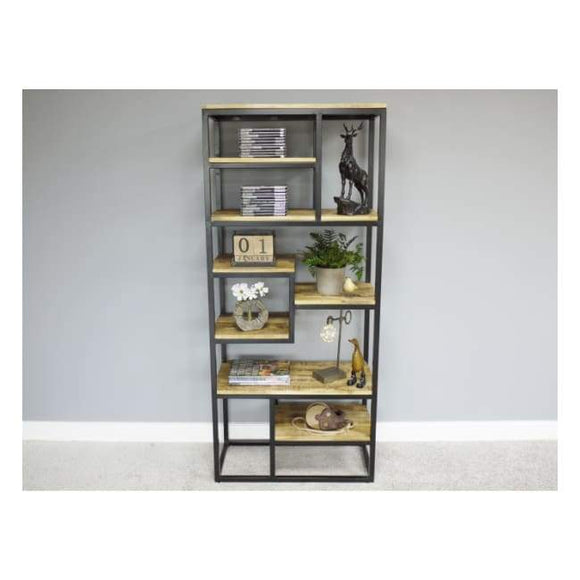 Iron & Mango Wood Shelving Unit