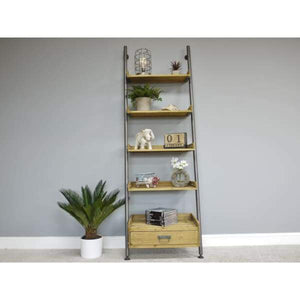 Ladder Shelving Unit With Drawer