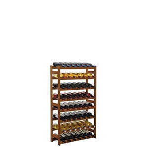 "'Pine Wooden Wine Rack/Bottle Rack System ""Simplex Brown"