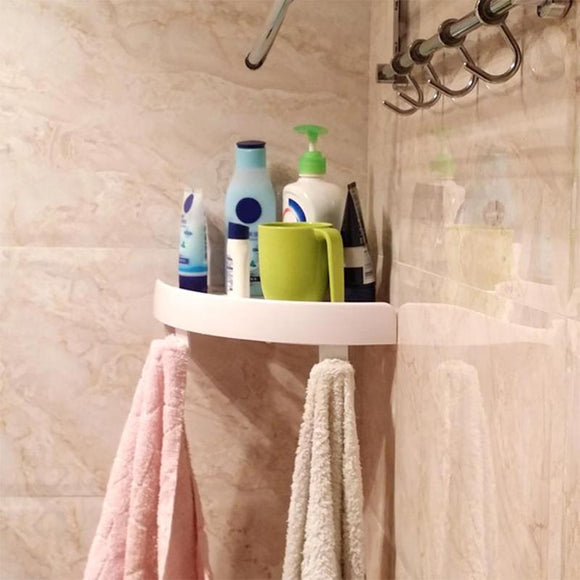 BEST QUALITY MULTIFUNCTION BATHROOM SHELVES – PLASTIC CORNER SHELF