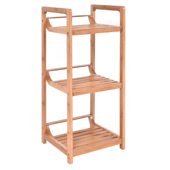 3-Tier Bamboo Bathroom Storage Rack