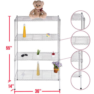 Commercial 4/5/6 Tier Storage Rack Steel Wire Shelving Unit