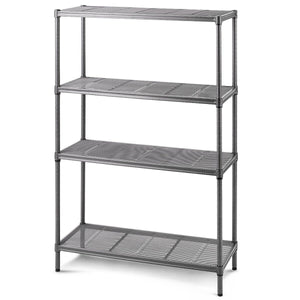 "59"" Height Adjustable Storage Rack 4-Layer Heavy Duty Steel Mesh Shelf"